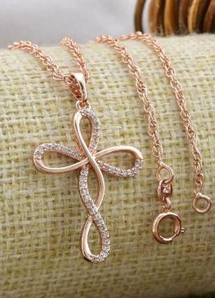 Набор xuping цепочка и крестик медзолото, медицинское золото