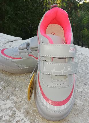 Кроссовки для девочки led