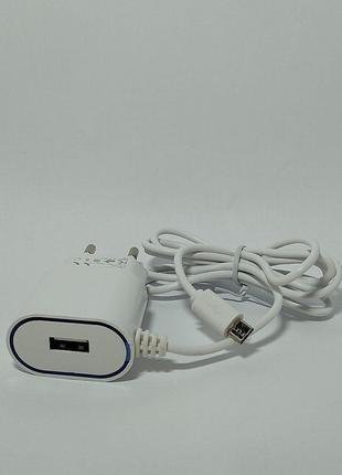 Зарядний пристрій Avantis A802 Plus 2A micro USB з USB виходом