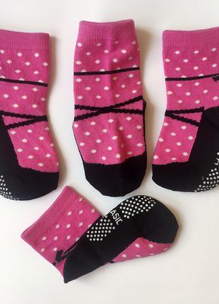 Антискользящие хлопковые носки для девочек