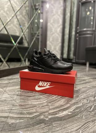 Кросівки найк айр макс 270 чорні, nike air max 270 leather black