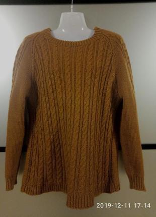 Тёплый шерстяной вязаный свитер. вязаный свитер/кофьа/джемпер...