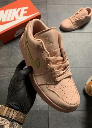 Nike air jordan 1 retro женские кожаные кроссовки наложенный п...
