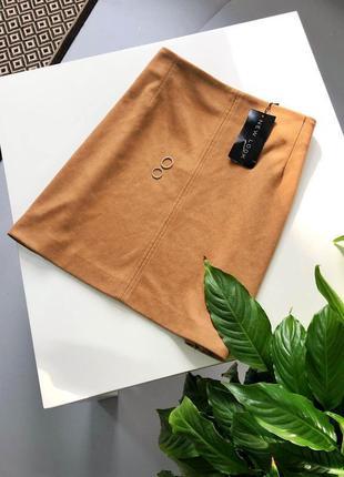 Замшевая юбка трапеция new look