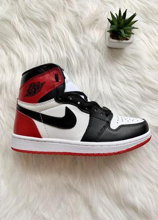 Nike air jordan 1 retro red black женские кроссовки наложенный...