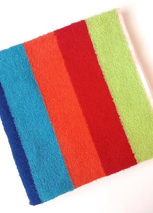 Полотенце лицевое махровое 100*50 с разноцветными полосками