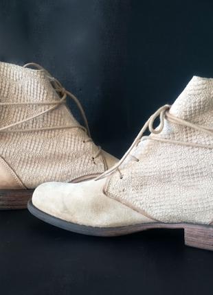 Ботинки из натуральной, плотной замши post xchange.