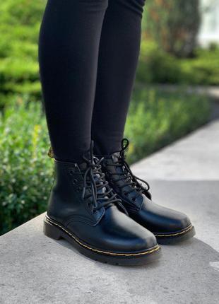 Шикарные женские ботинки dr. martens 101 smooth black