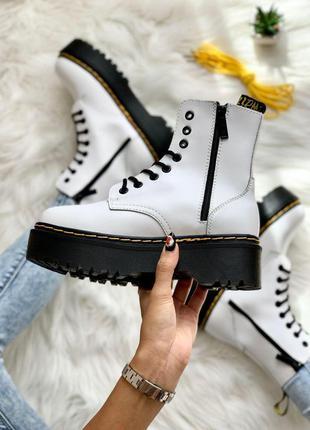 Шикарные женские ботинки dr. martens jadon white