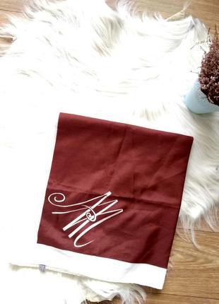 Платок шаль косынка брендовый винтаж terital montefibre коричн...