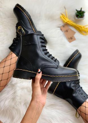 Шикарные женские ботинки dr. martens 1460 black
