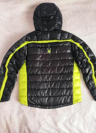 Мужской пуховик куртка с капюшоном spyder р. s оригинал
