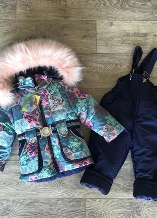 Красивый зимний комбинезон для девочек