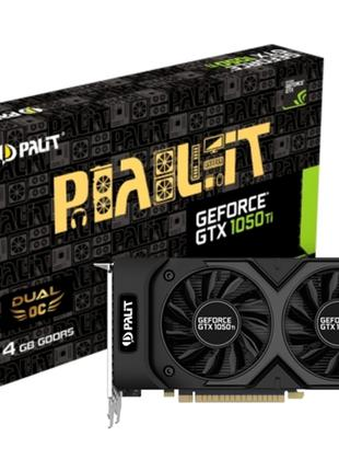 Видеокарта Palit GeForce GTX 1050 Ti Dual 4069Mb