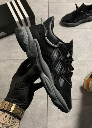 Мужские кроссовки 🔥 adidas ozweego black gray