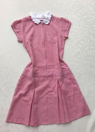 платье в клетку для школы 8-9лет