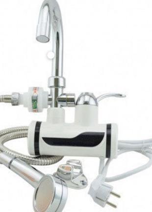 Проточный водонагреватель Water Delimano с душем боковое подкл...