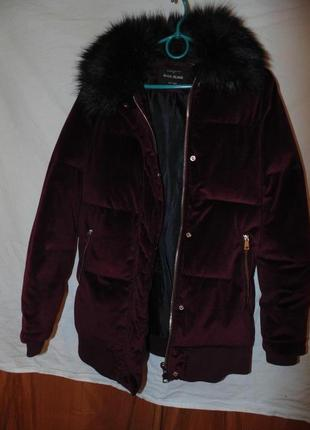 Куртка бархат вилюр зимняя river island оригинал
