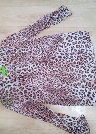 Леопардова блузка s-m