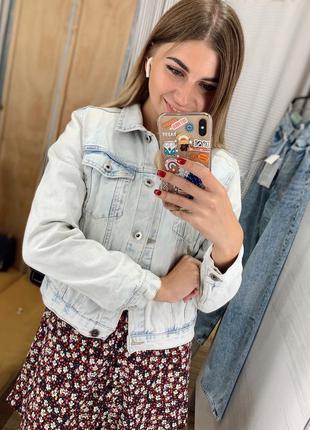 Джинсовка джинсовая куртка pull&bear