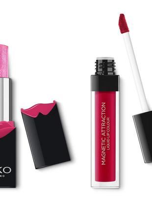 Набор для губ kiko milano magnetic attraction perfect lip kit 02