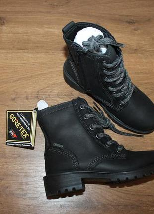 Кожаные ботинки ecco gore-tex, 28 размер