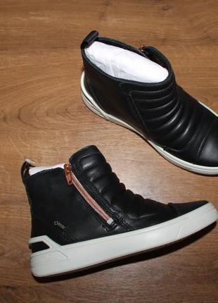 Водонепроницаемые кожаные ботинки ecco ginnie gore-tex, 30 размер
