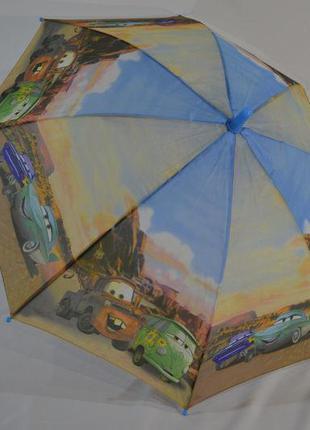 Зонт для мальчика тачки машинки 5-9 лет