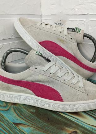 Оригинальные замшевые кроссовки кеды puma suede 39.5