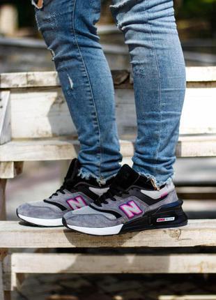 Кроссовки new balance 997s grey pink