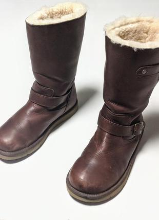 Ugg australia kensington кожанные зимние спапоги ботинки