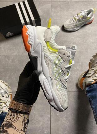 Мужские кроссовки  🔥 adidas ozweego black beige адидас