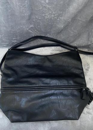 Сумка чёрная трансформатор , сумка рюкзак