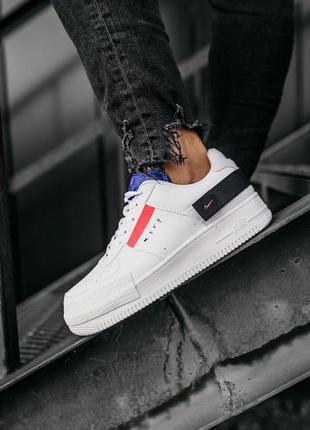 Nike air force 1 low white шикарные мужские кожаные кроссовки 😍