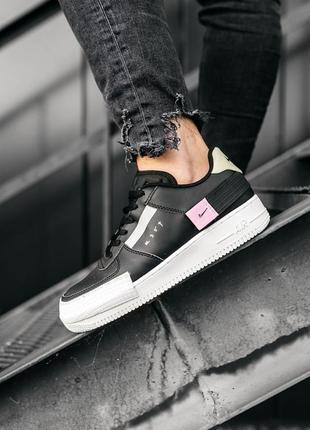 Nike air force 1 low black шикарные мужские кожаные кроссовки 😍