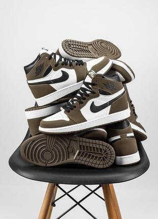 "Nike air jordan 1 retro two ""dark mocha"" шикарные мужские кожа..."