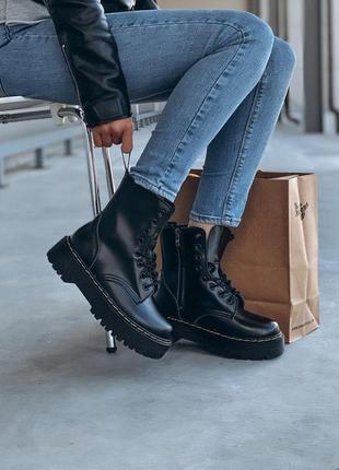 Ботинки dr martens на платформе меховые кожаные (36-40)💜