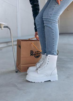 Зимние ботинки dr martens на платформе белый цвет (36-40)💜