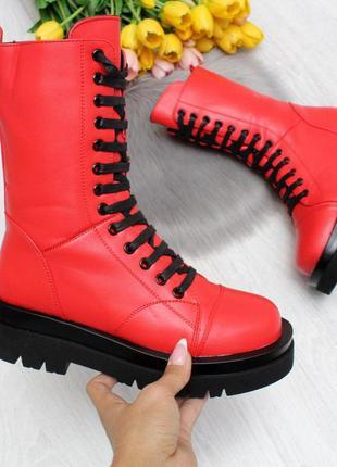 Ультра модные высокие женские зимние ботинки на молнии декор ш...