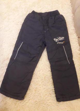 Штаны для мальчика с тёплой подкладкой