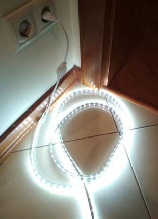 Светодиодная Влагостойкая LED лента 220 v в силиконе длина 2 и...