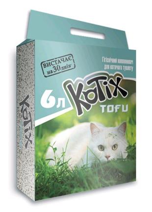 Наполнитель для кошачьего туалета Kotix TOFU Classic 6 л