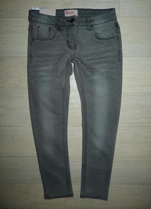 Серые скинни, джинсы alive. размер 10 лет