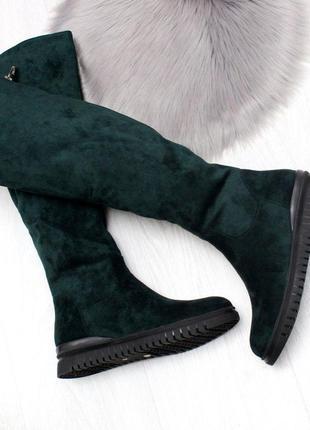 Модельные зимние женские сапоги на удобной подошве зима 2020-2...