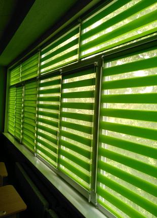 Тканевые ролеты рулонные шторы день-ночь