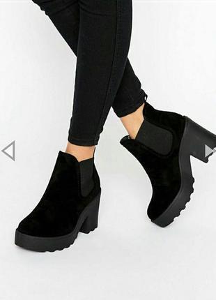 Замшевые ботинки pull&bear