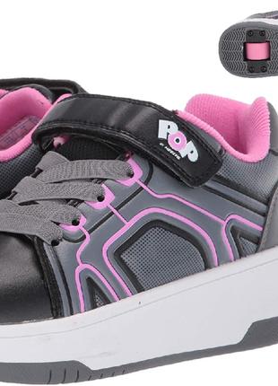 Роликовые стильные кроссовки для девочки heelys