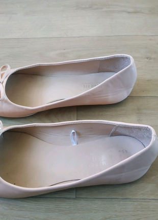 Лакові балетки 42(на широку ногу)
