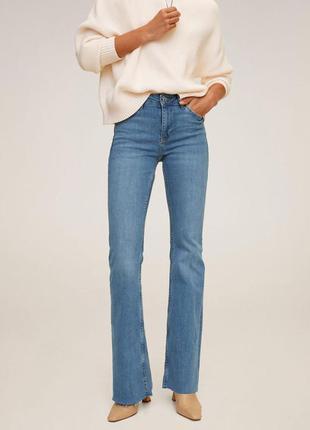 Летние джинсы клёш от mango