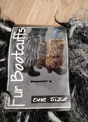 Меховые манжеты на сапоги fur bootcuffs
